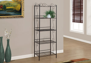 "Candace & Basil Bookcase - 70""H / Copper Metal Etagere"