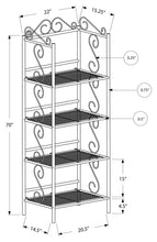 "Load image into Gallery viewer, Bookcase - 70""H / Copper Metal Etagere"