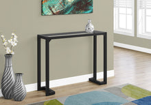 "Load image into Gallery viewer, Candace & Basil Console Table - 42""L / Black / Tempered Glass Hall Console"