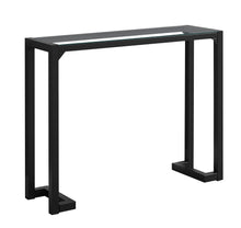 "Load image into Gallery viewer, Console Table - 42""L / Black / Tempered Glass Hall Console"