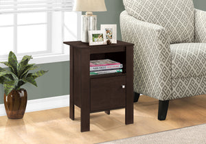 Candace & Basil Accent Table - Cappuccino Night Stand With Storage