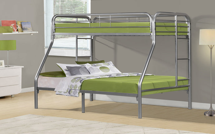 Candace & Basil Bunk Bed Twin / Full - Silver Metal