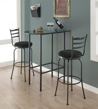 "Load image into Gallery viewer, Candace & Basil Dining Table - 24""X 36"" / Grey Marble / Charcoal Metal"