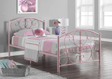 Load image into Gallery viewer, Candace & Basil Weldon Platform Twin Bed Frame - Pink Metal