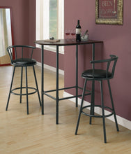 "Load image into Gallery viewer, Candace & Basil Barstool - 2PC Set / 36""H / Swivel / Black Metal"