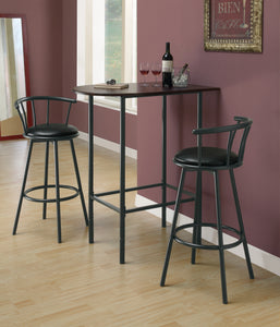 "Candace & Basil Barstool - 2PC Set / 36""H / Swivel / Black Metal"