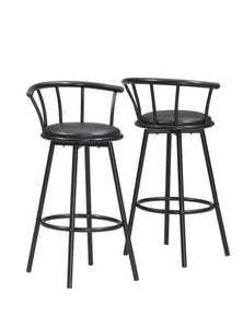 "Barstool - 2PC Set / 36""H / Swivel / Black Metal"