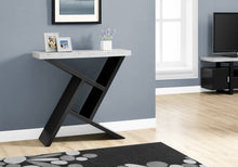 "Load image into Gallery viewer, Candace & Basil Accent Table - 36""L / Black / Cement-Look Hall Console"