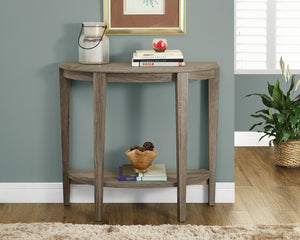 "Candace & Basil Console Table - 36""L / Dark Taupe Hall Console"
