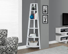 "Load image into Gallery viewer, Candace & Basil Bookcase - 72""H / White Corner Etagere"