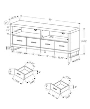"Load image into Gallery viewer, TV Stand - 60""L / White With 4 Drawers"