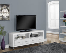 "Load image into Gallery viewer, Candace & Basil TV Stand - 60""L / White With 4 Drawers"