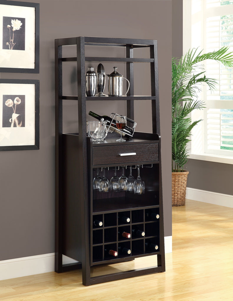 "Candace & Basil Home Bar - 60""H / Cappuccino Ladder Style"