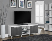 "Load image into Gallery viewer, Candace & Basil TV Stand - 60""L / White / Grey"