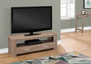 "Candace & Basil TV Stand - 48""L / Dark Taupe With 2 Storage Drawers"