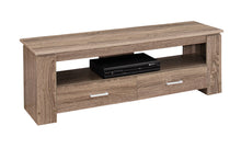 "Load image into Gallery viewer, TV Stand - 48""L / Dark Taupe With 2 Storage Drawers"