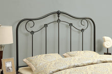 Load image into Gallery viewer, Candace & Basil Queen/Full Metal Headboard - Coffee