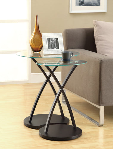 Candace & Basil Nesting Table - 2PC Set / Cappuccino Bentwood