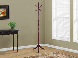 "Candace & Basil Coat Rack - 72""H / Cherry Solid Wood Traditional Style"