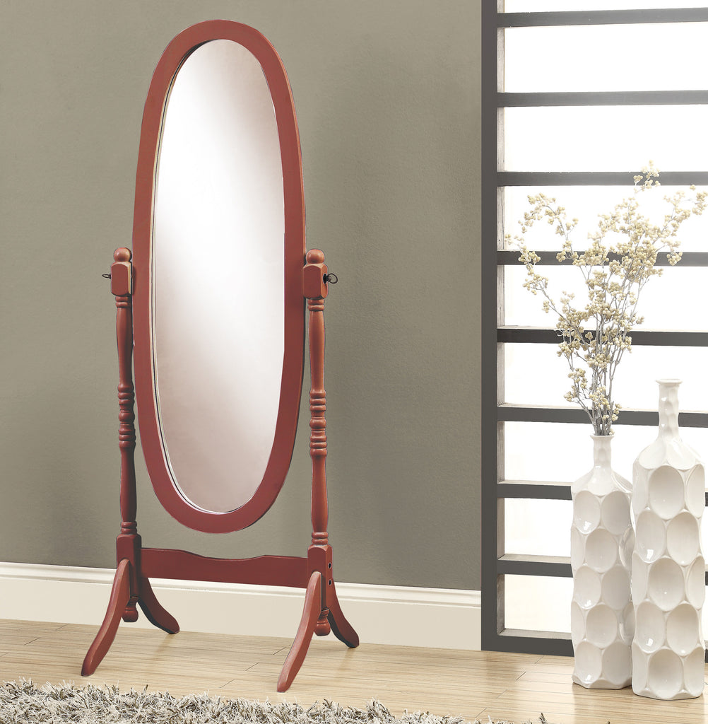 "Candace & Basil Mirror - 59""H / Walnut Oval Wood Frame"
