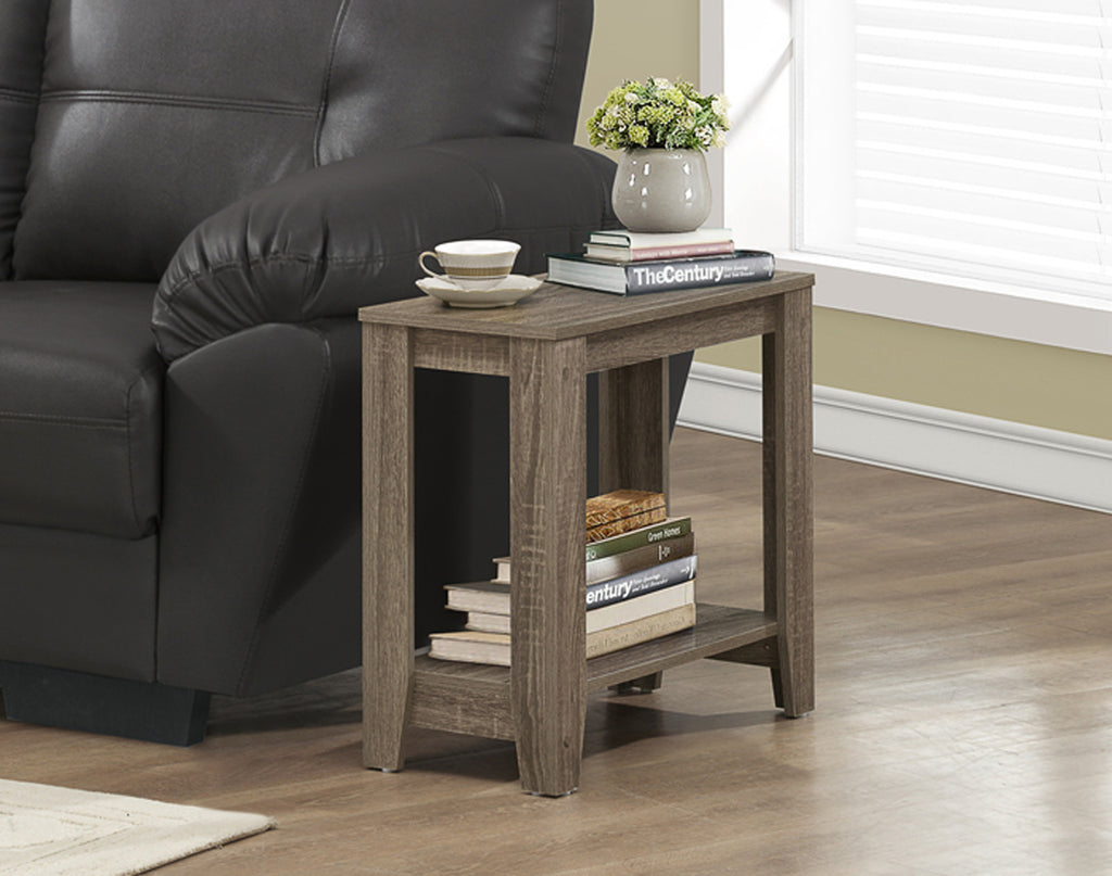 Candace & Basil Accent Table - Dark Taupe