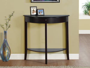 Candace & Basil Contemporary Console Table - Dark Cherry
