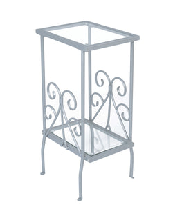 Metal Plant Stand - White