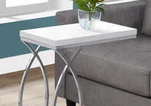 Load image into Gallery viewer, Accent Table - Glossy White With Chrome Metal