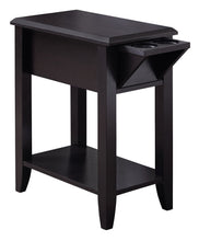 "Load image into Gallery viewer, Accent Table - 24""H / Cappuccino With A Glass Holder"