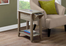 "Load image into Gallery viewer, Accent Table - 24""H / Dark Taupe With A Glass Holder"