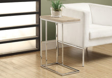 Load image into Gallery viewer, Candace & Basil Accent Table - Natural With Chrome Metal