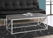Load image into Gallery viewer, Candace & Basil Coffee Table - Grey With Chrome Metal