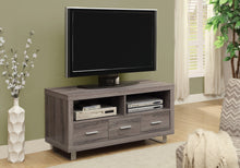 "Load image into Gallery viewer, Candace & Basil TV Stand - 48"" L / Dark Taupe With 3 Drawers"