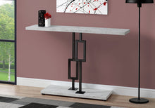 "Load image into Gallery viewer, Console Table - 48""L / Grey Cement / Black Nickel Metal"
