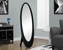 "Load image into Gallery viewer, Candace & Basil Mirror - 59""H / Black Contemporary Oval Frame"