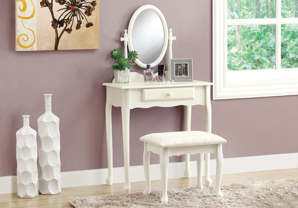 Candace & Basil Vanity Set - 2pc Set / Antique White