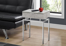 "Load image into Gallery viewer, Accent Table - 24""H / Grey Cement / Chrome Metal"