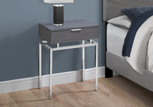"Load image into Gallery viewer, Accent Table - 24""H / Grey / Chrome Metal"