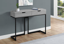 "Load image into Gallery viewer, Console Table - 42""L / Grey/ Black Metal Hall Console"