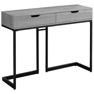 "Console Table - 42""L / Grey/ Black Metal Hall Console"