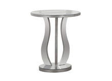"Load image into Gallery viewer, End Table - 20""Dia / Brushed Silver / Mirror"