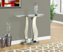 "Load image into Gallery viewer, Candace & Basil Console Table - 36""L / Brushed Silver / Mirror"