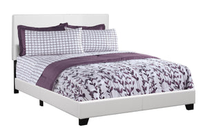 Brooklyn Queen Bed - White Faux Leather