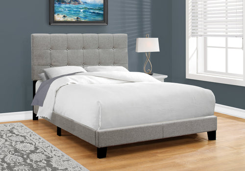 Candace & Basil Anderson Double/Full Bed Frame - Grey Linen