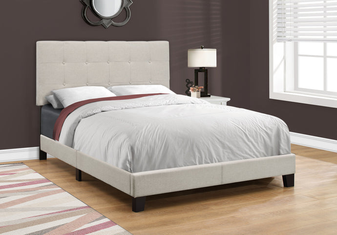 Candace & Basil Anderson Double/Full Bed Frame - Beige Linen