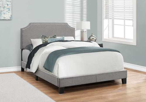 Candace & Basil Roosevelt Double/Full Bed Frame - Grey Linen