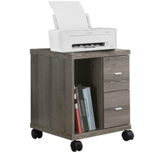 Load image into Gallery viewer, Candace & Basil Office Cabinet - Dark Taupe With 2 Drawers On Castors