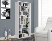 "Load image into Gallery viewer, Candace & Basil Bookcase - 72""H / White"