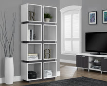 "Load image into Gallery viewer, Candace & Basil Bookcase - 71""H / White / Grey"