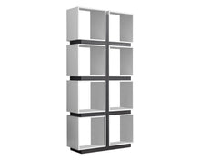 "Load image into Gallery viewer, Bookcase - 71""H / White / Grey"